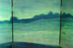 Sky To Field triptych 12x20