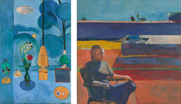 The Blue Window and Woman on a Porch Paintings